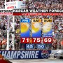 NEW HAMPSHIRE NASCAR WEATHER FORECAST