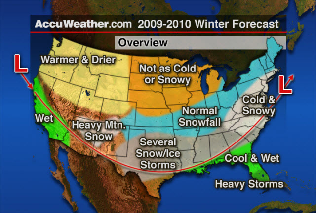 From AccuWeather.com: Bastardi Says Core of Winter from D.C. to ...